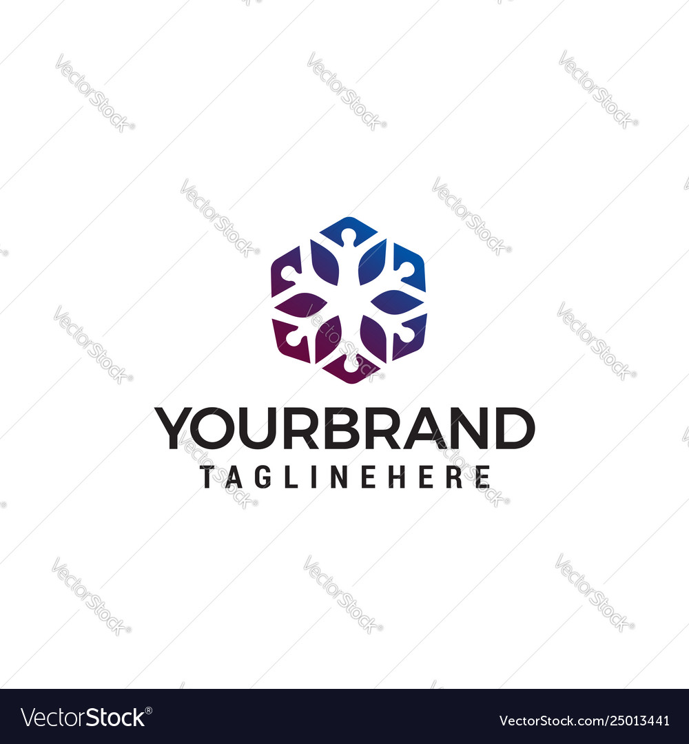 People community logo design concept template