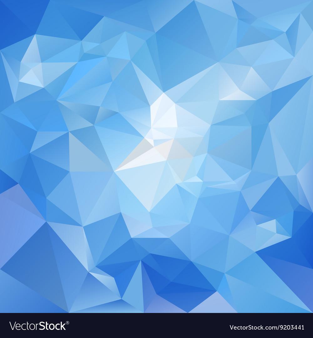 Sky Blue Polygon Triangular Pattern Background