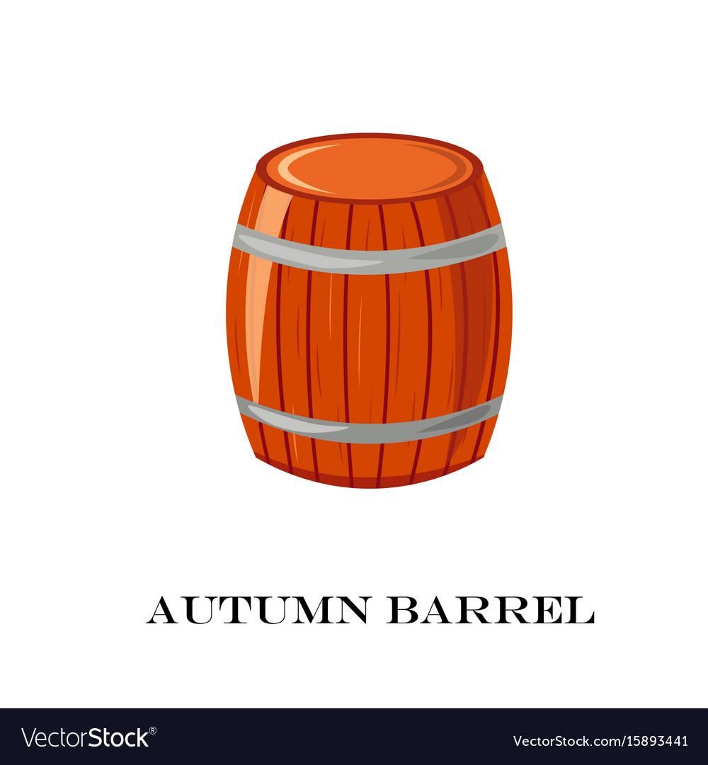 Wooden barrel autumn time