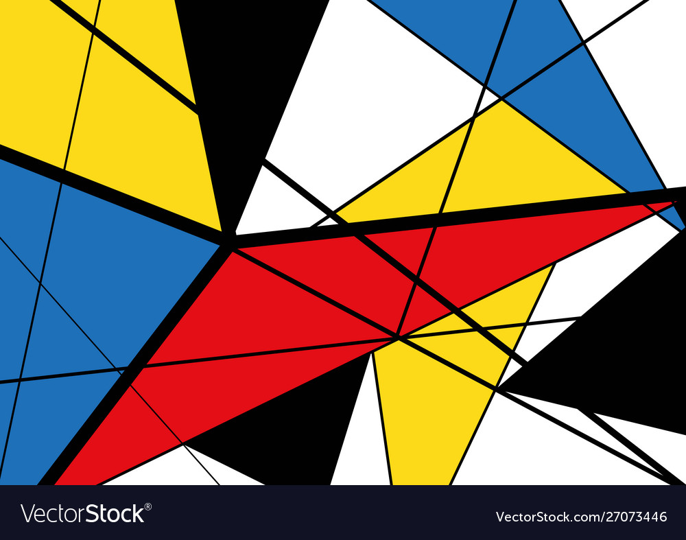 Abstract triangles geometric colorful pattern