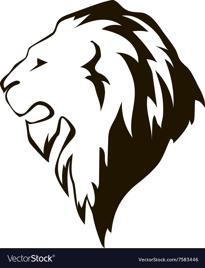 Lion head in profile Template Logo