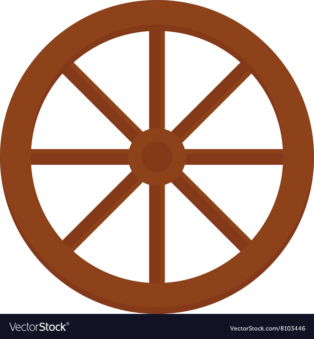 Old wooden vintage wheel from cart transportation