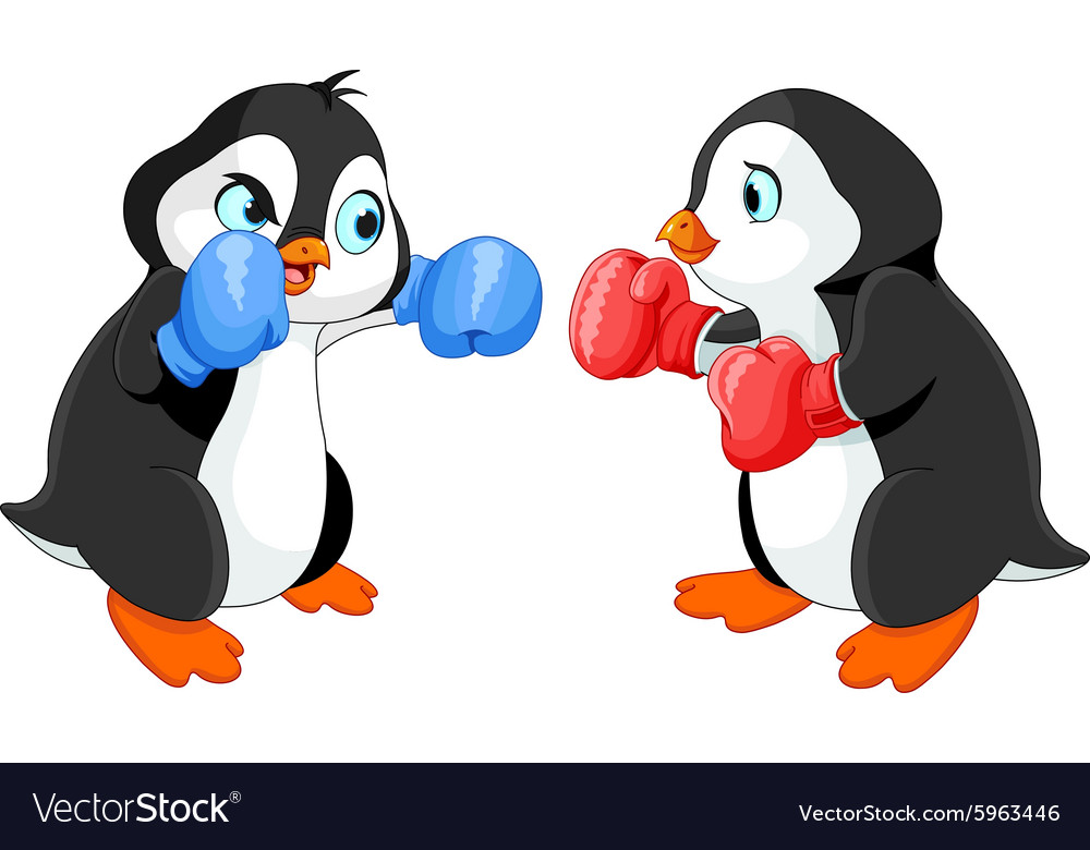 Penguin Boxing vector image