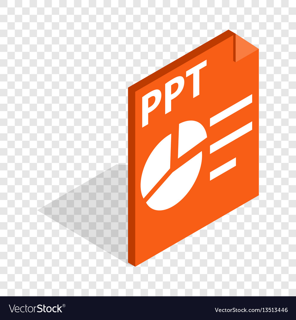 ppt file extension isometric icon royalty free vector image
