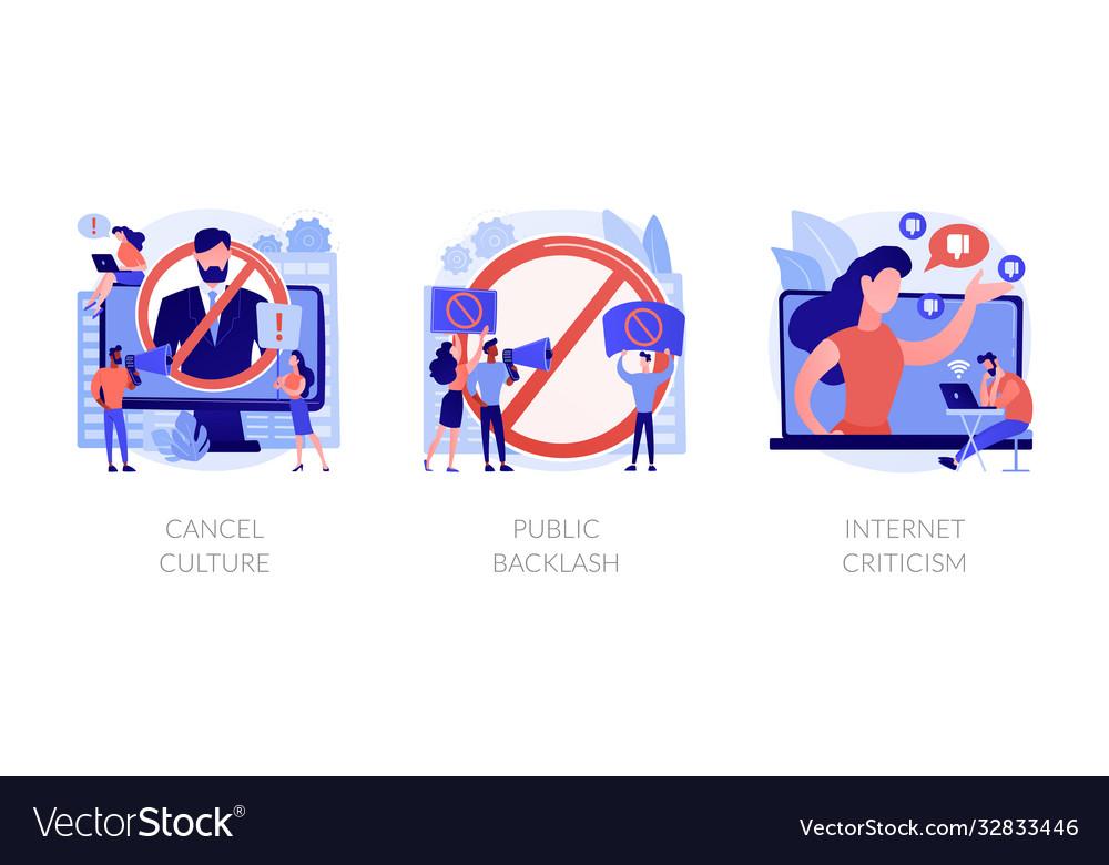 Social media behavior abstract concept