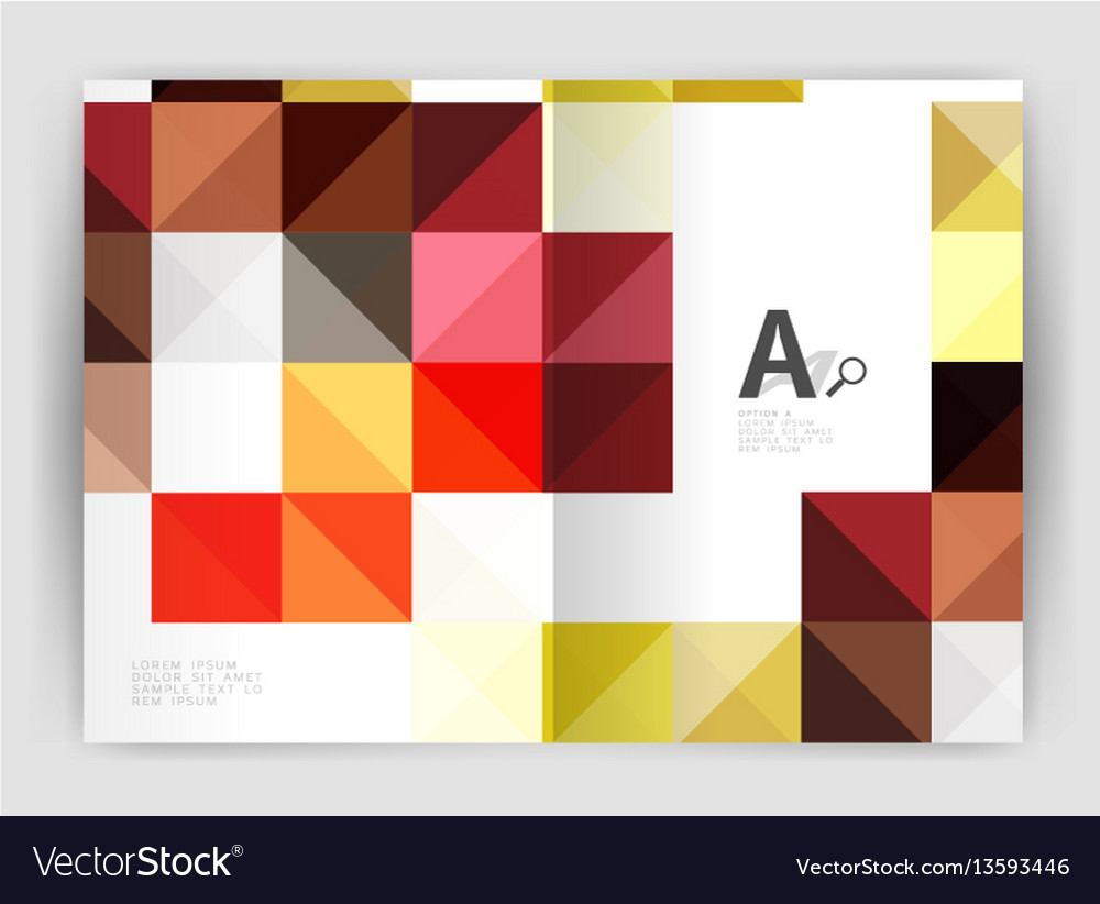 Square leaflet business a4 print template