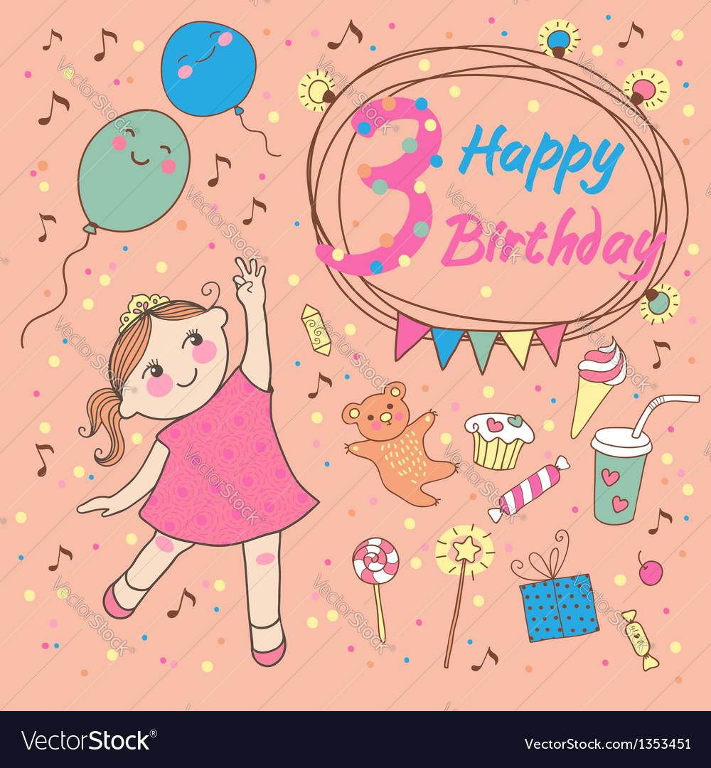 Галстуком, открытки с днем рождения для маленькой девочки 3 года