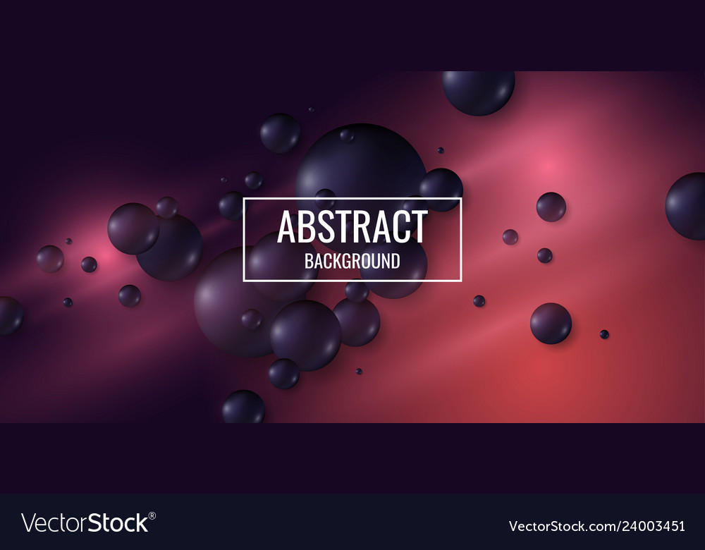 Black spheres on a bright background abstract