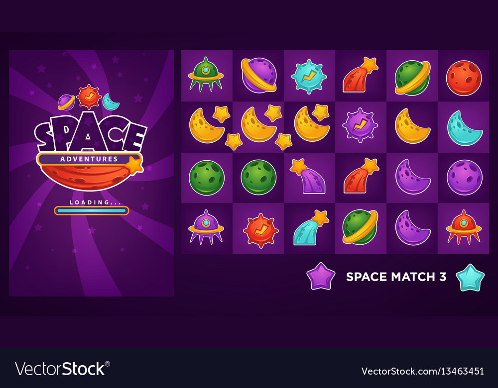 Collection of objects and elemants for your match vector image
