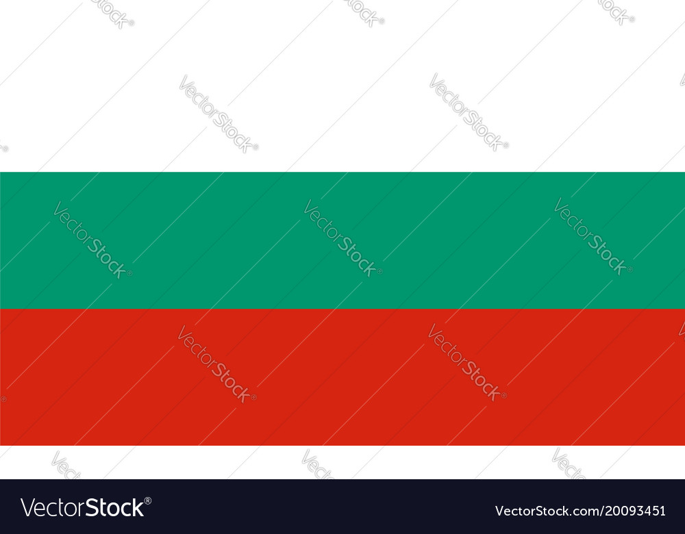 Flag in colors of bulgaria image vector image