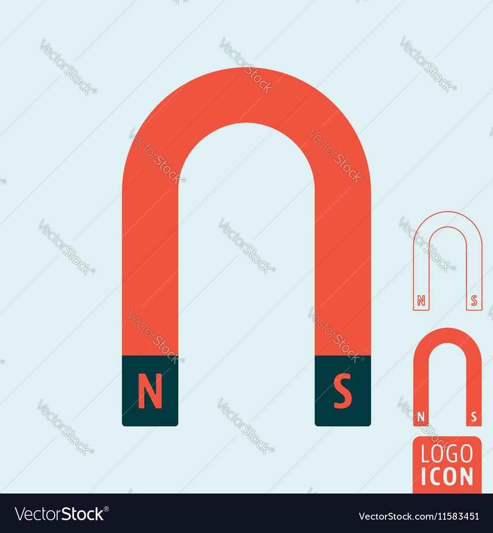 Magnet icon isolated vector image