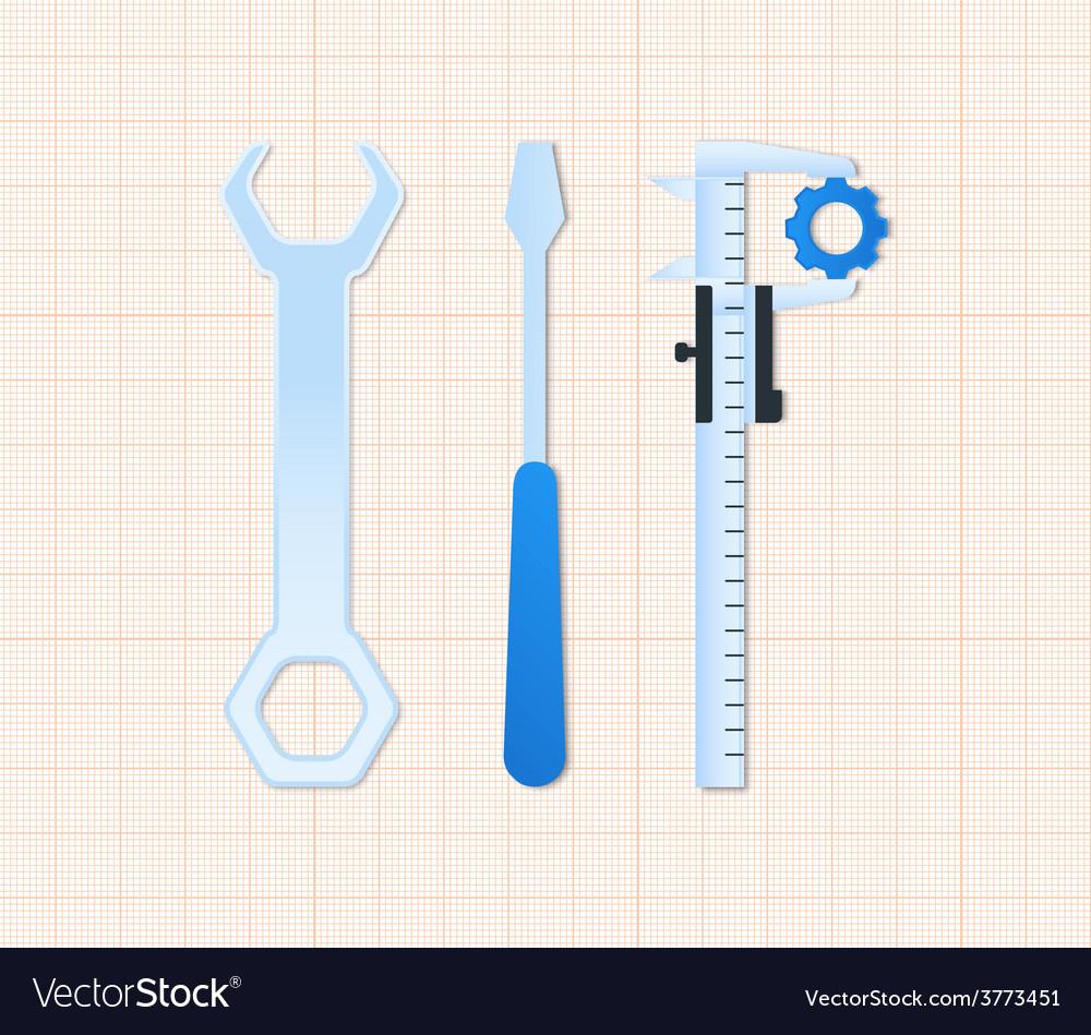 Maintenance tools vector image
