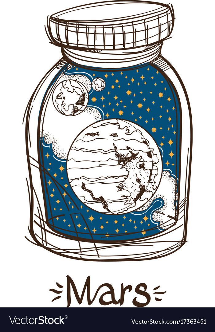 Mars in a glass jar the planet of the solar