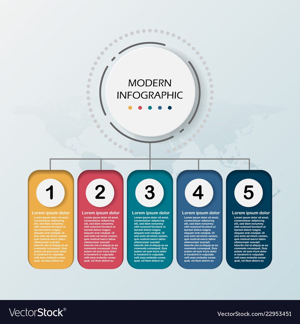 Modern abstract 3d infographic template business
