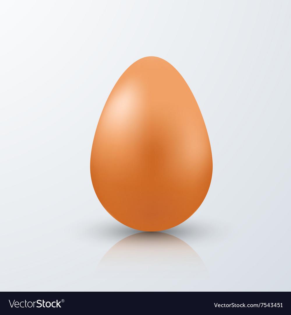 Modern easter egg on white