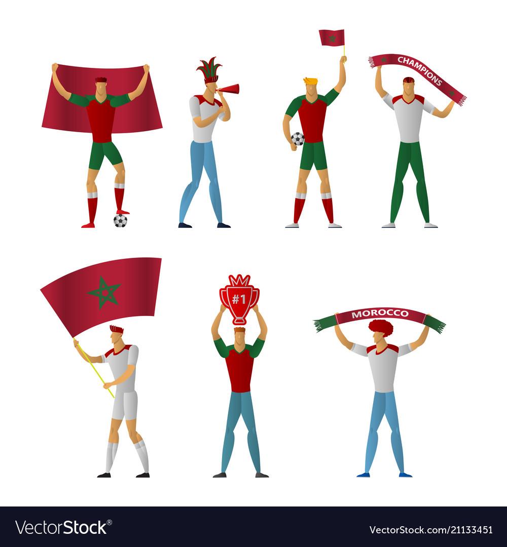 Morocco football fans cheerful soccer