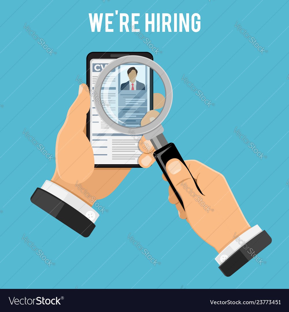 Online employment and hiring concept