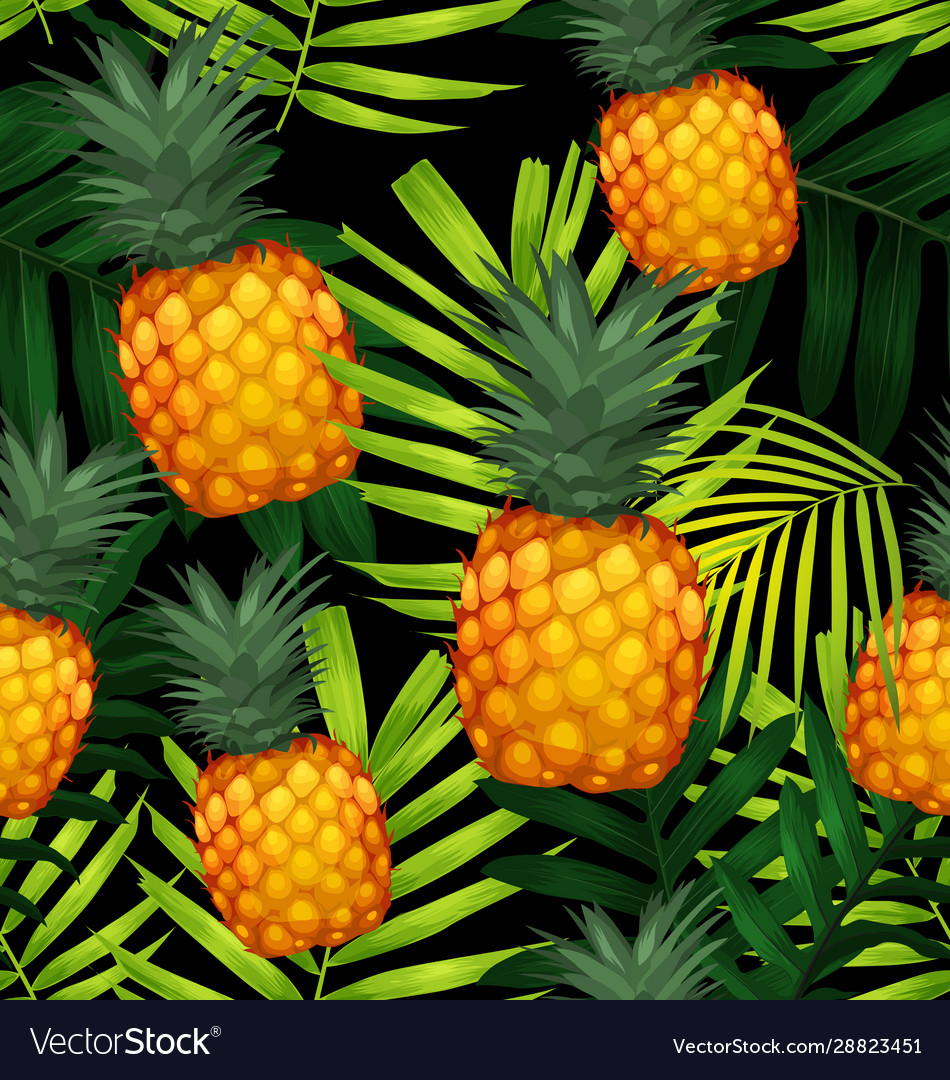 Pineapples seamless patter3