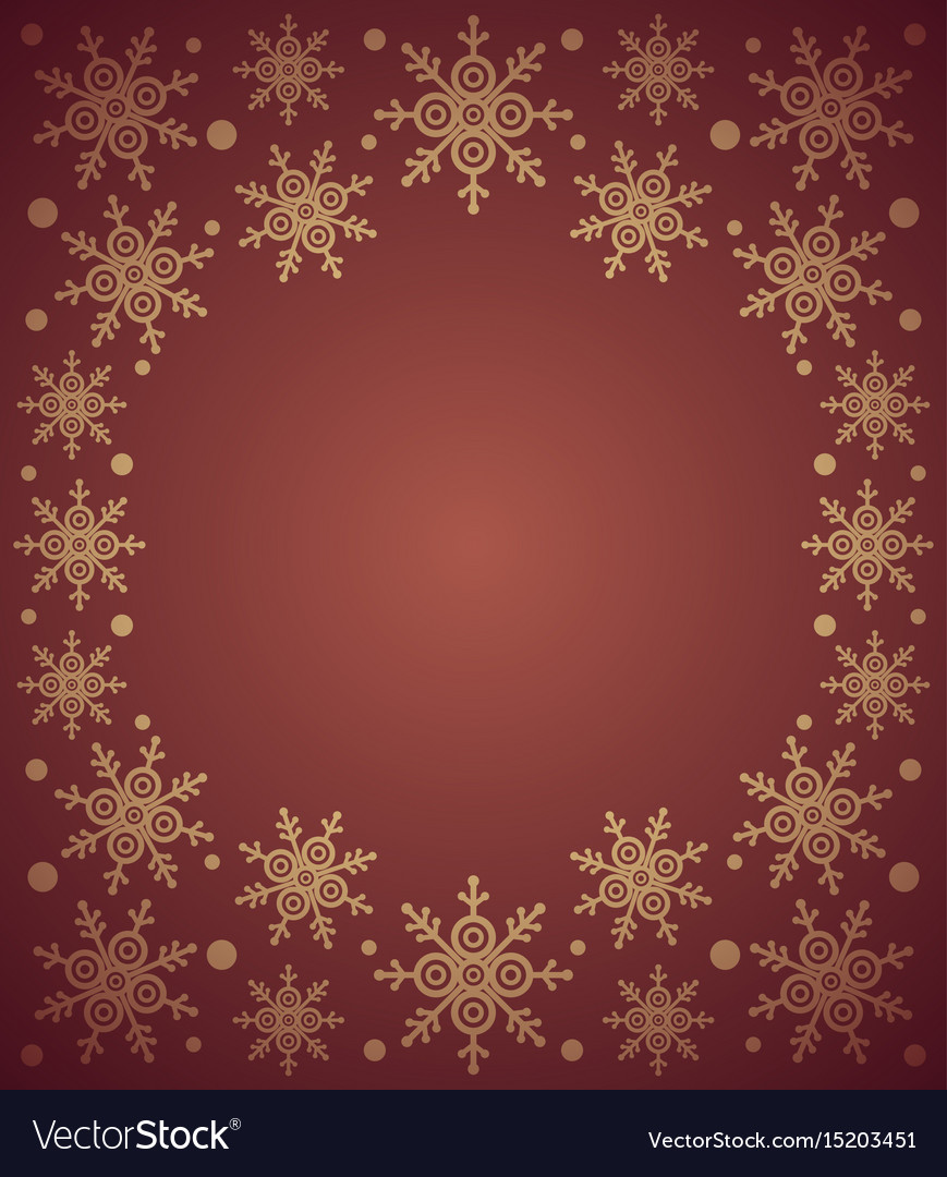 Red new year background card with snowflake
