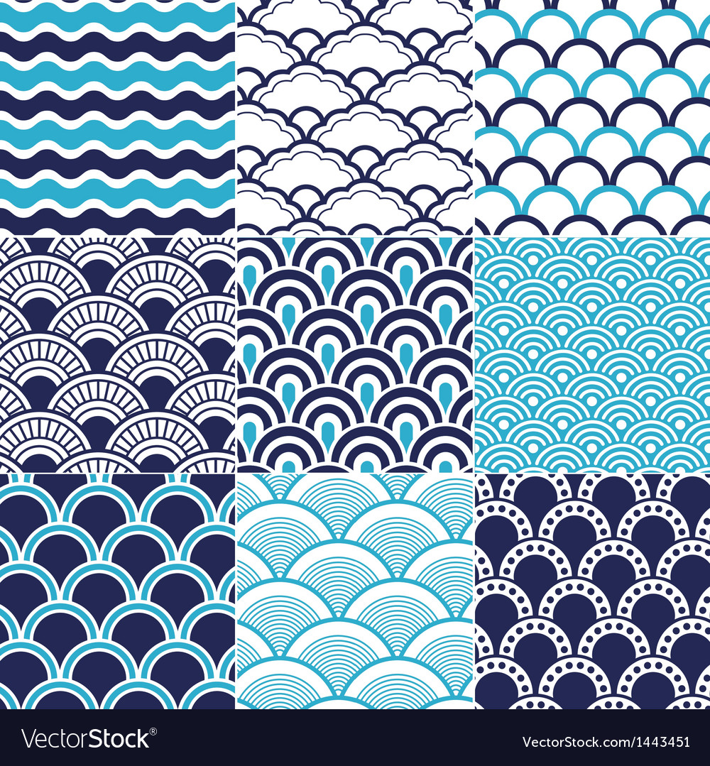 Ocean Wave Pattern Unique Decorating Design