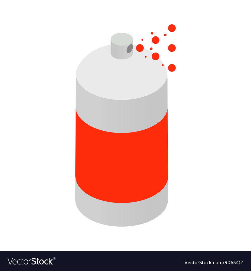 Spray paint bottle icon isometric 3d style