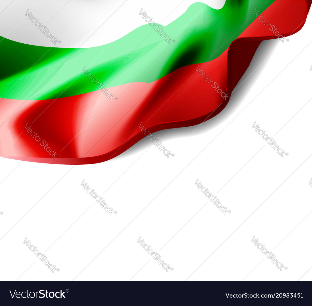 Waving flag of bulgaria close-up with shadow on