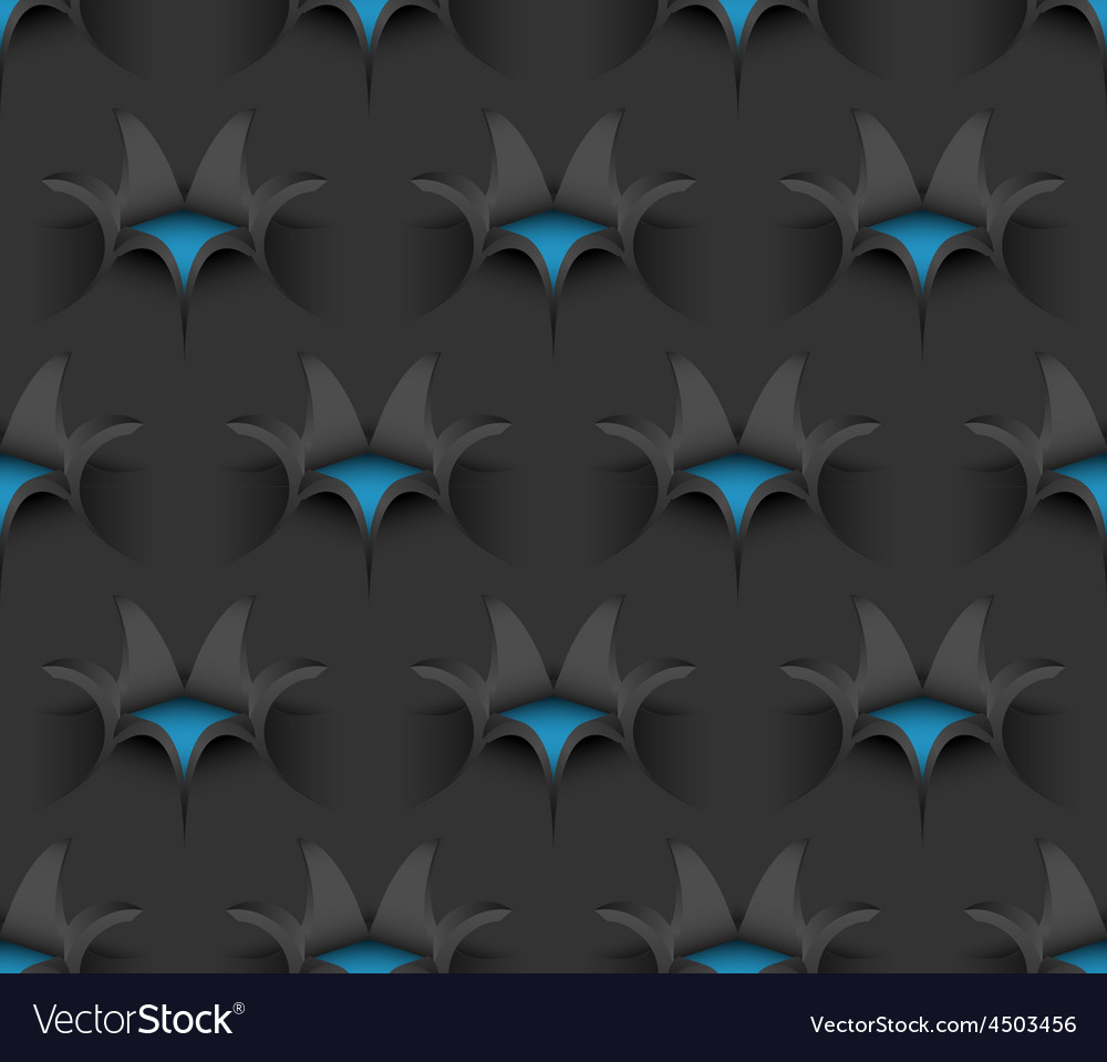3d Seamless Paper Flower Pattern Royalty Free Vector Image