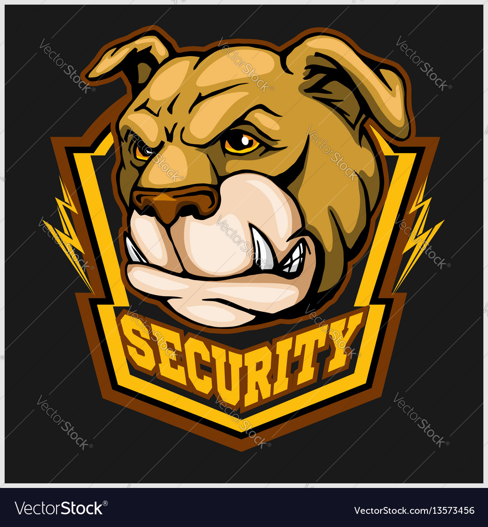 Bulldog head mascot - security emblem
