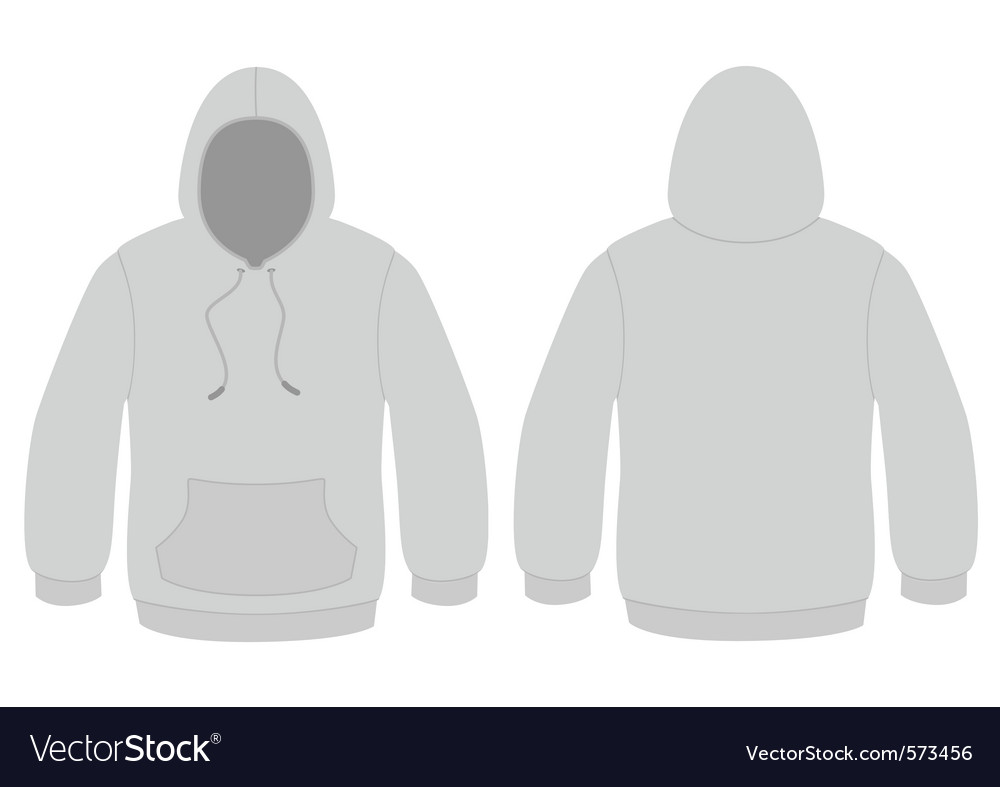 Hooded sweater template vector image