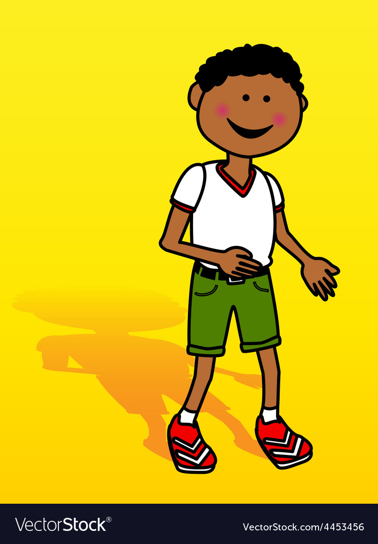 Little black boy over yellow