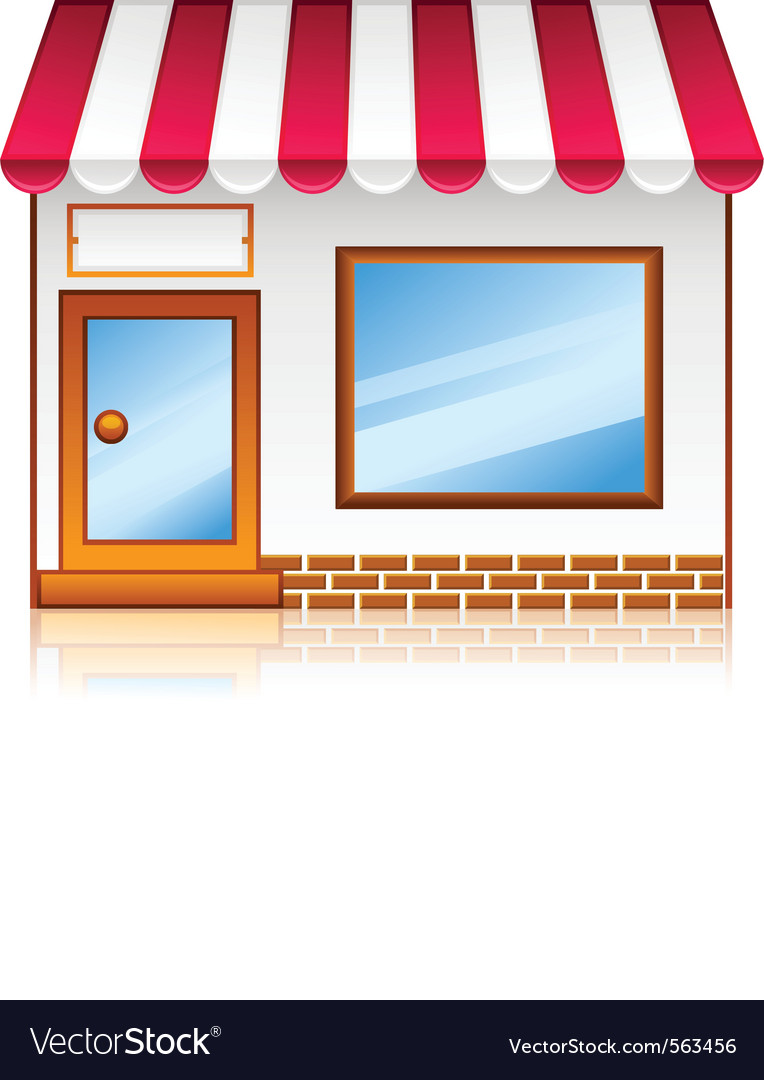 Market shop vector image