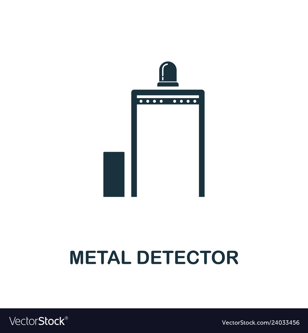 Metal detector icon premium style design from