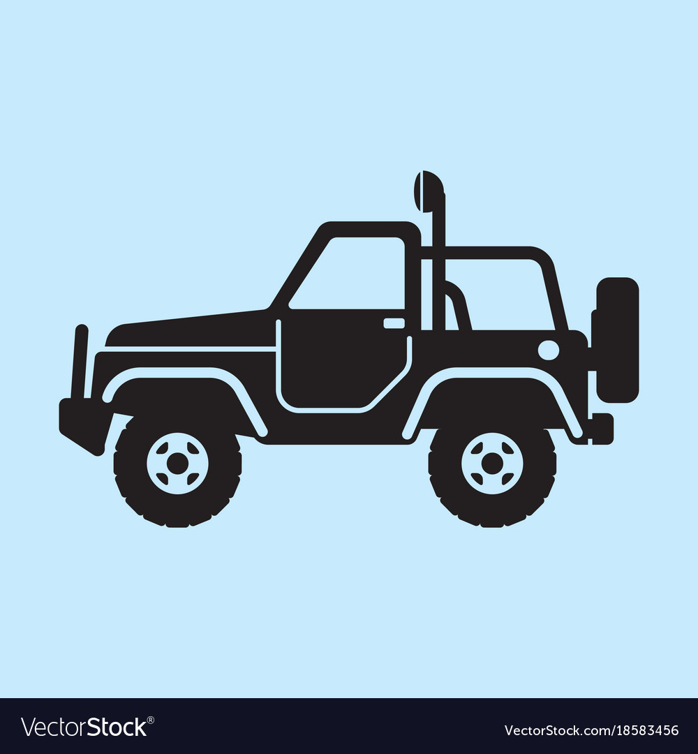 Off road vehicle car for bad roads vector image