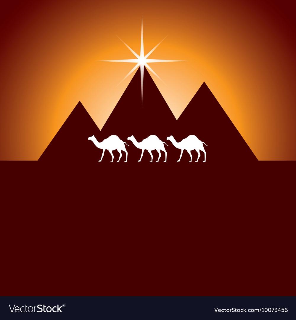 Pyramids desert landscape icon