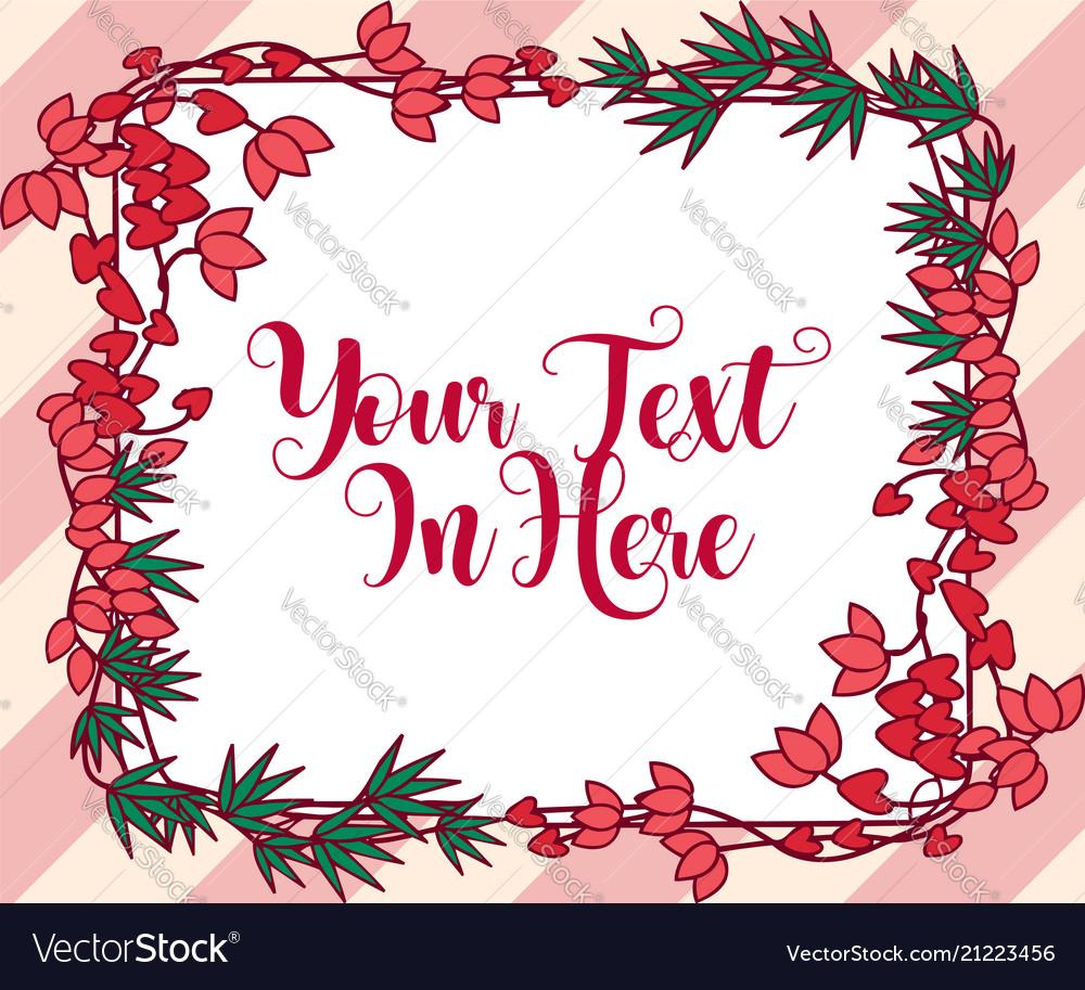 Romantic floral frame decoration design