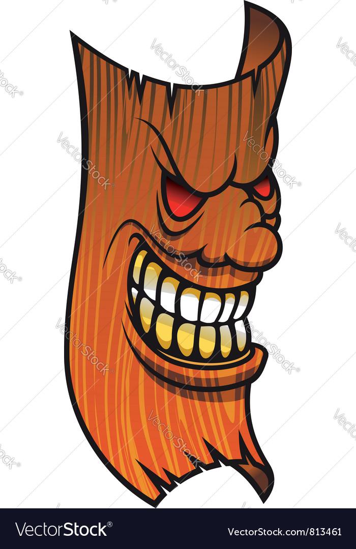 Angry wooden mask Royalty Free Vector Image - VectorStock aeaab6839946