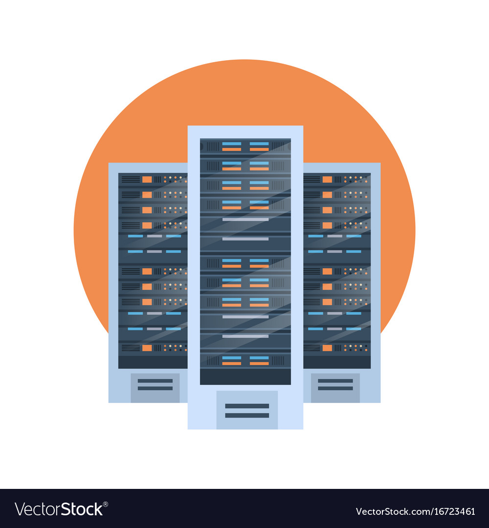 data center icon cloud computer connection hosting