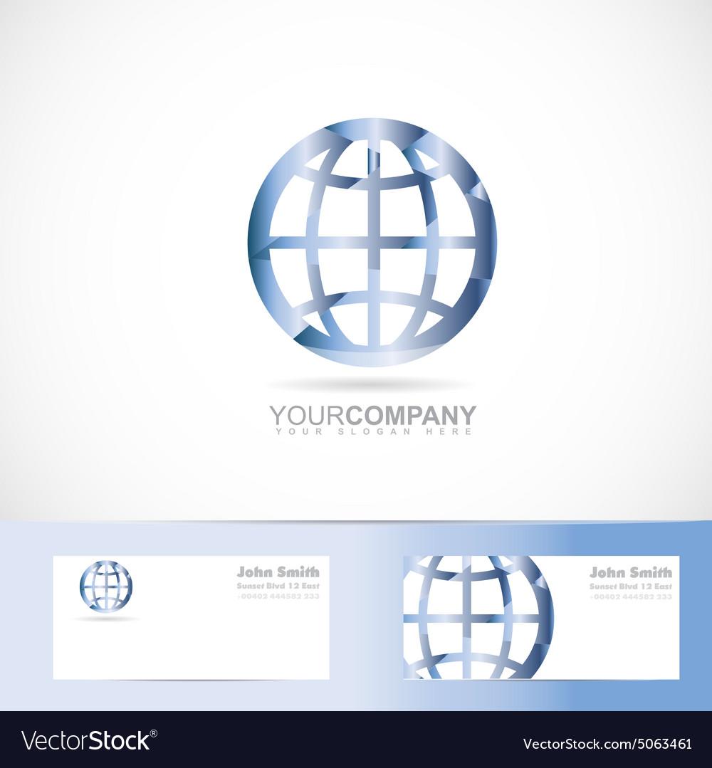 Earth world planet sign logo vector image