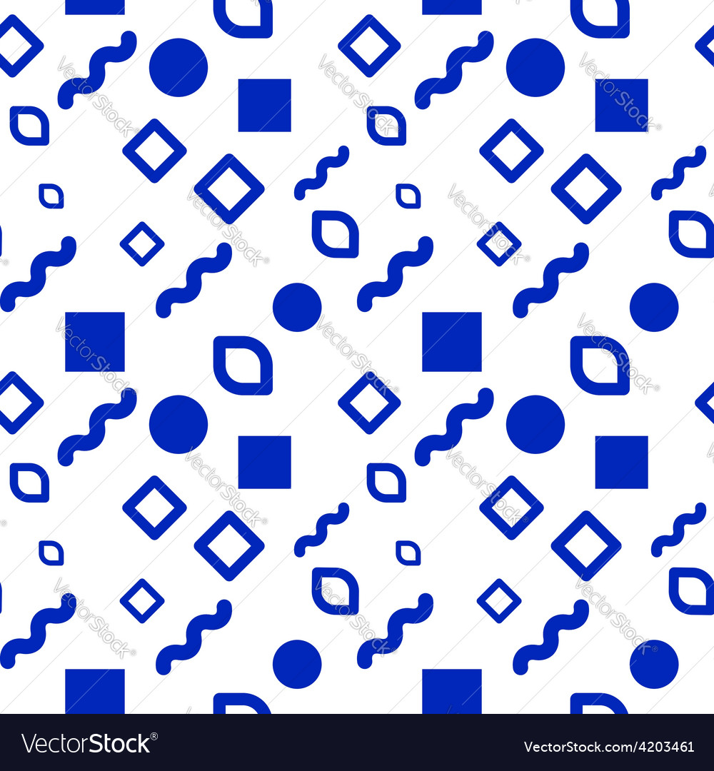 Hipster seamless pattern different shapes
