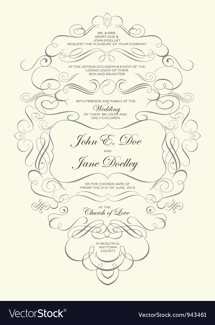 Invitations Template Royalty Free Vector Image