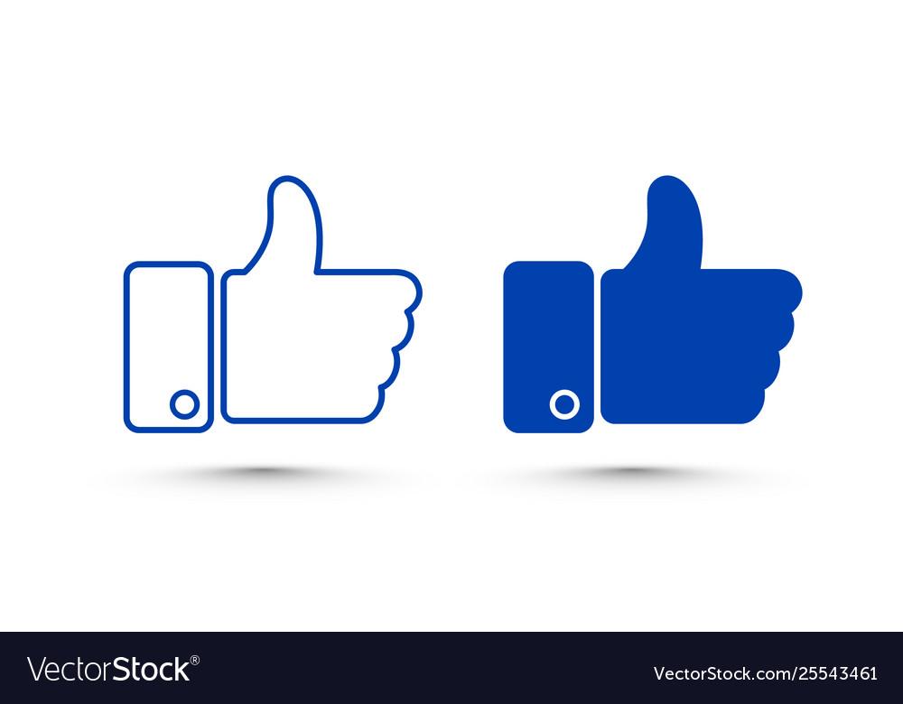 Like set sign icon line social network