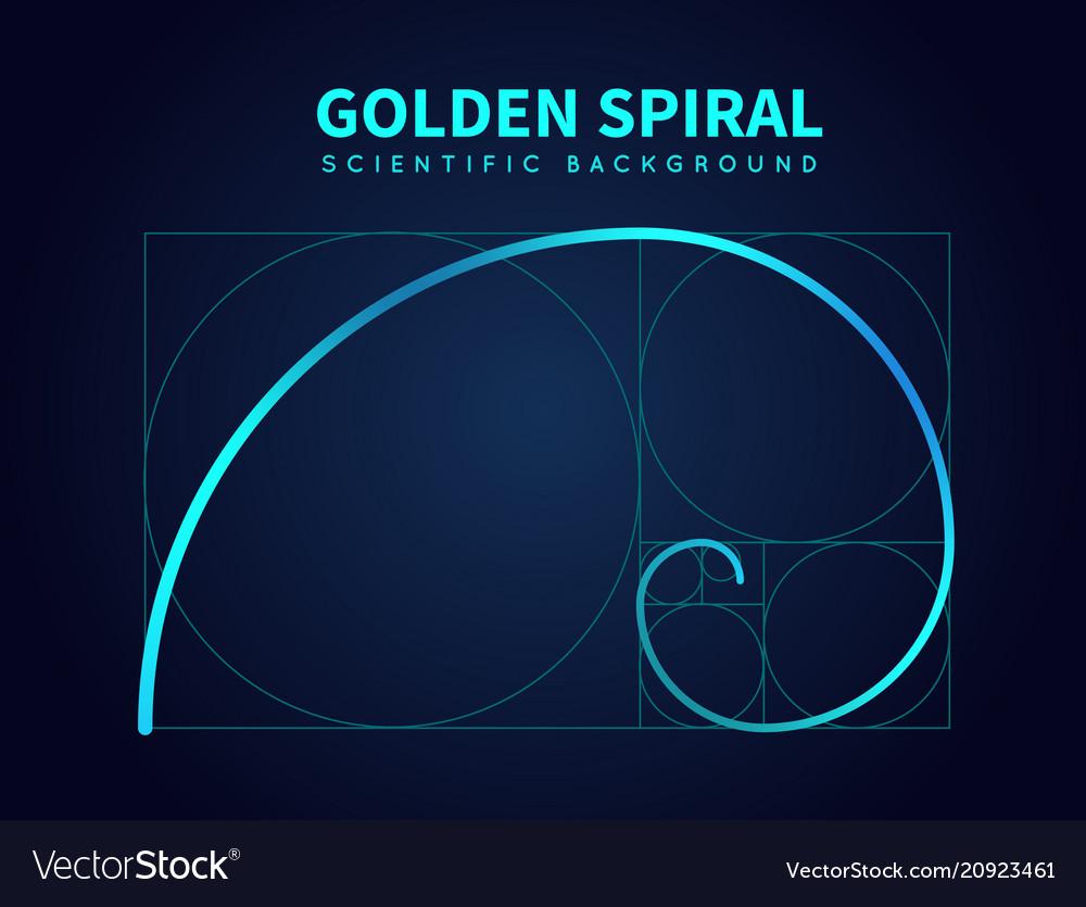Mathematics formula of fibonacci spiral golden vector image publicscrutiny Images