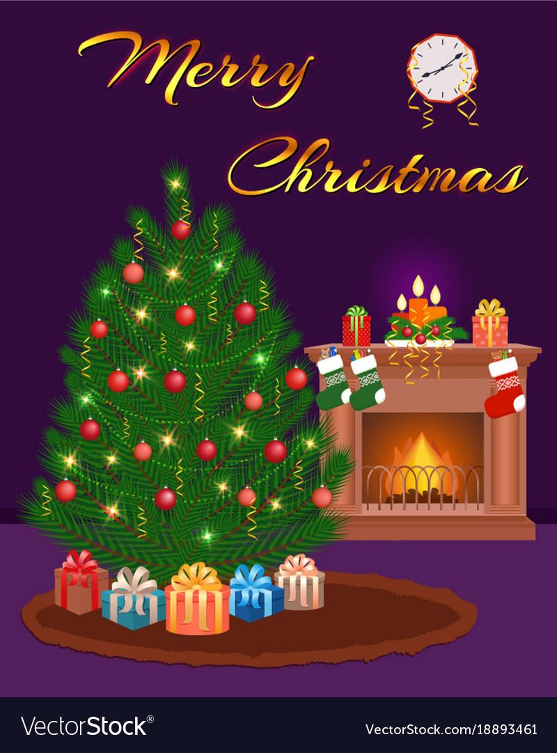 Merry christmas greeting card design christmas