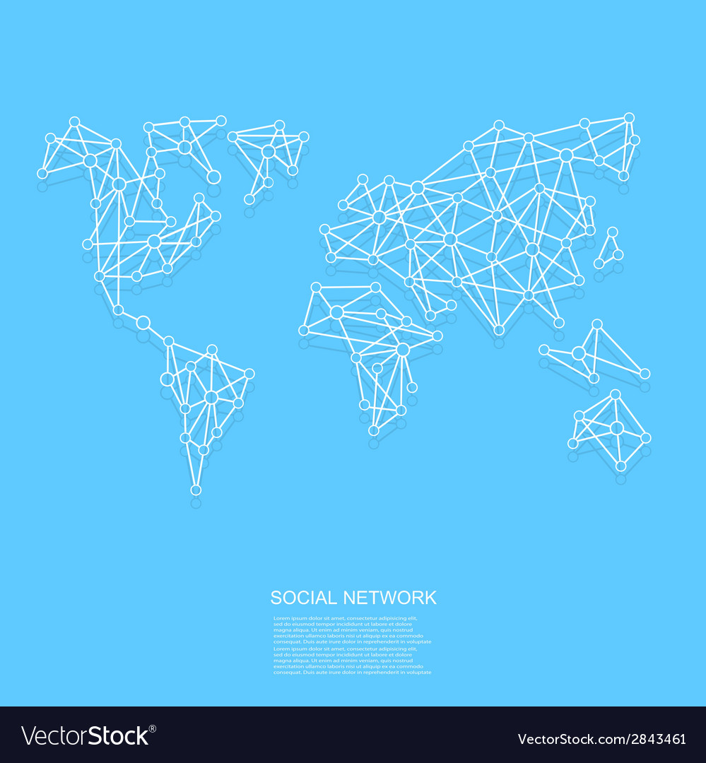 Modern social network background vector image
