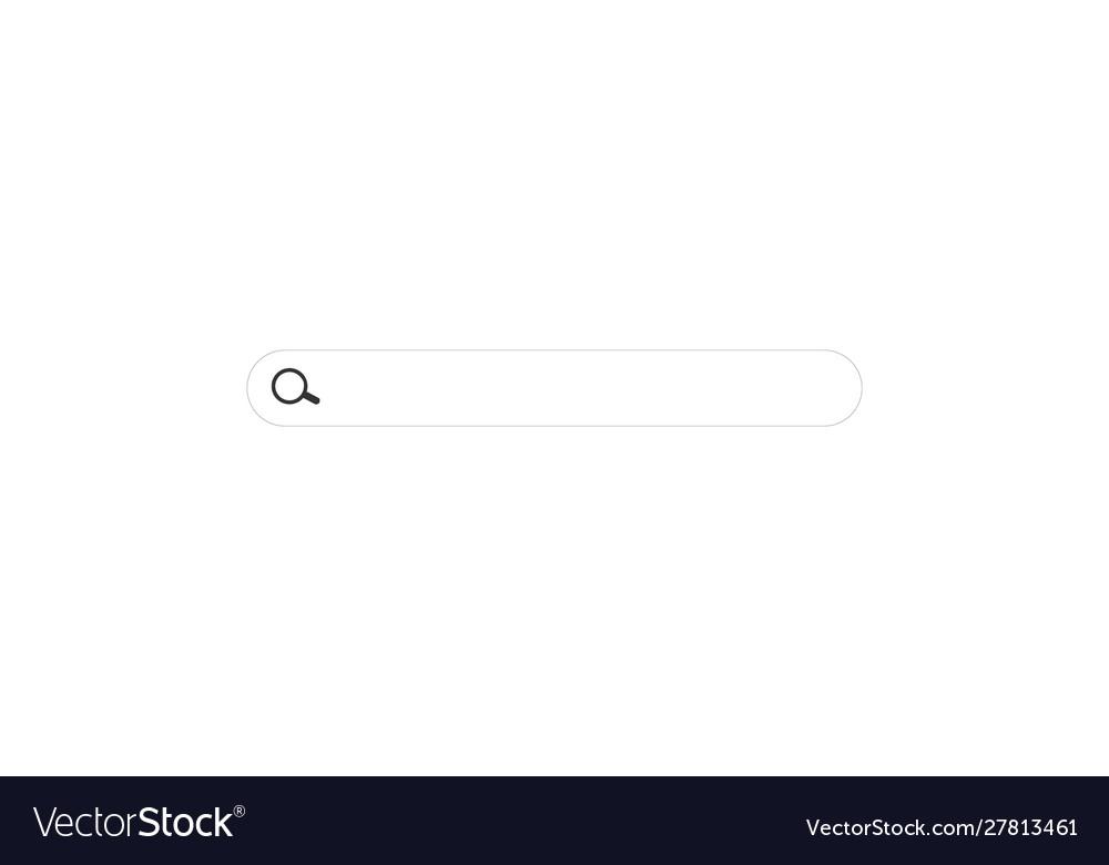 Simple search bar horizontal linear border
