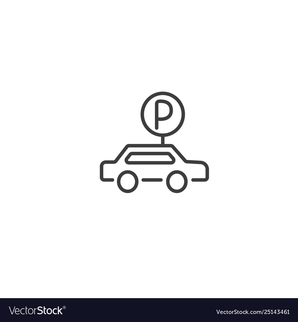 Urban and city element icon - parking lot