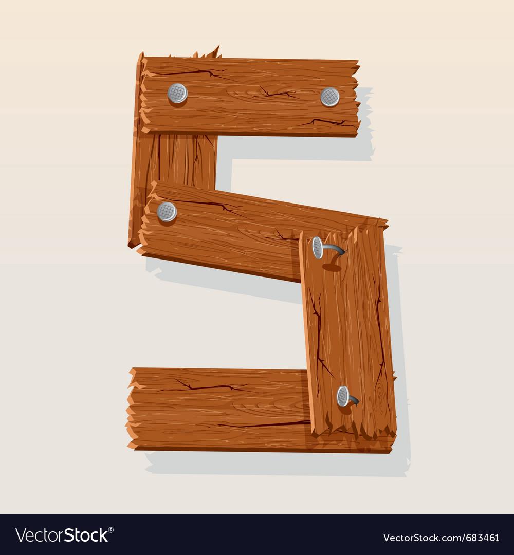 Wooden letter s