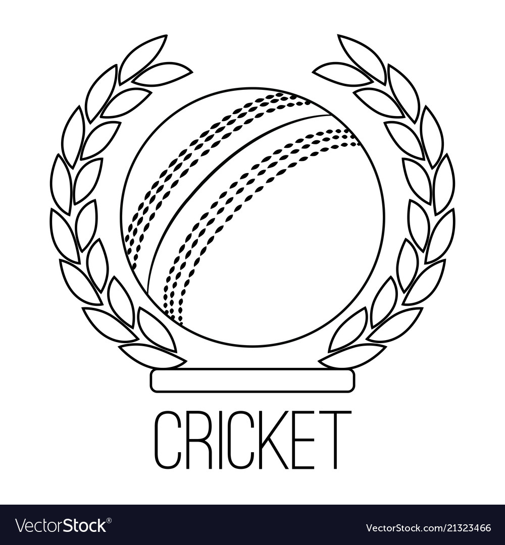 Abstract Cricket Label Royalty Free Vector Image