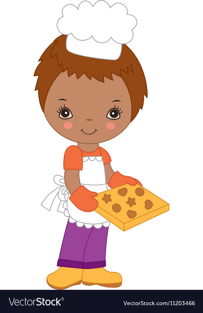African American Little Chef