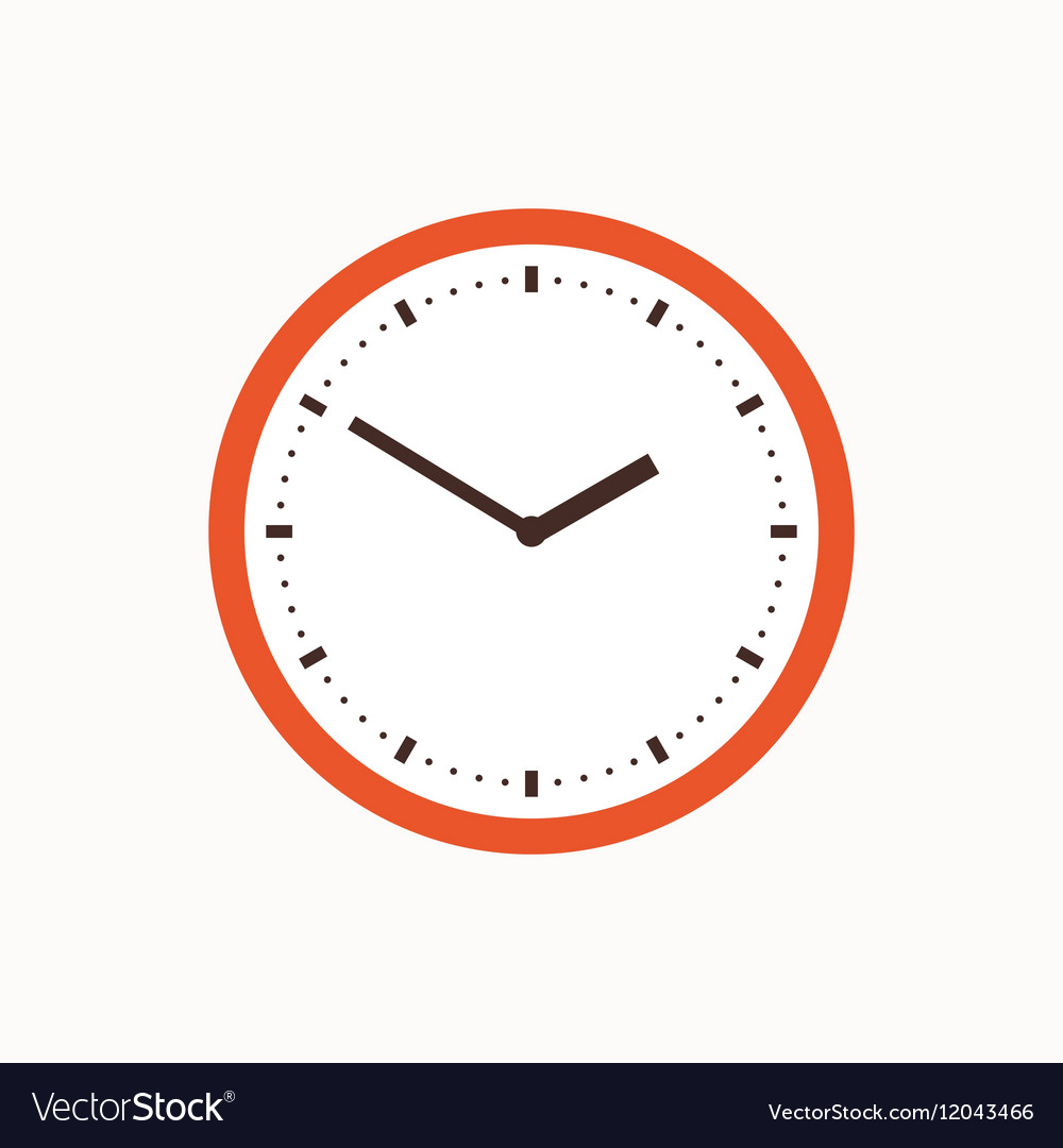 Colorful clock icon